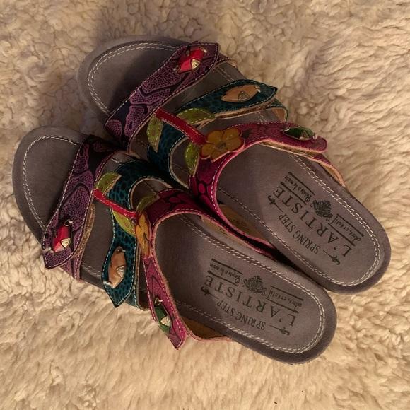L'Artiste Spring Step Shoes - L'Artiste Flowered Sandals